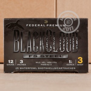 "Picture of 12 GAUGE FEDERAL BLACKCLOUD 3"" 1-1/4 OZ. #3 STEEL SHOT (25 ROUNDS)"