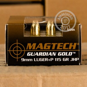Picture of 9MM LUGER +P MAGTECH GUARDIAN GOLD 115 GRAIN JHP (20 ROUNDS)