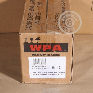 Picture of 5.45X39 WPA MILITARY CLASSIC 60 GRAIN FMJ (20 ROUNDS)