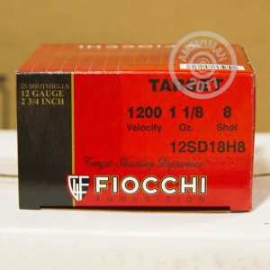 "Picture of 12 GAUGE FIOCCHI HEAVY TARGET SHOOTING DYNAMICS 2-3/4"" 1 1/8 OUNCE #8 SHOT (25 ROUNDS)"