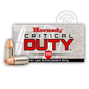 Picture of 9MM +P HORNADY CRITICAL DUTY 135 GRAIN FLEXLOCK JHP (50 ROUNDS)