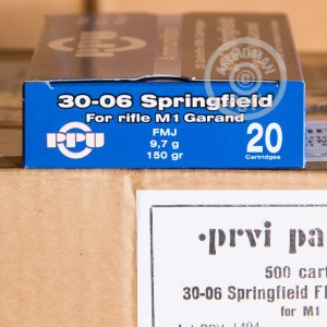 Picture of .30-06 SPRINGFIELD PRVI PARTIZAN 150 GRAIN FMJ (20 ROUNDS)