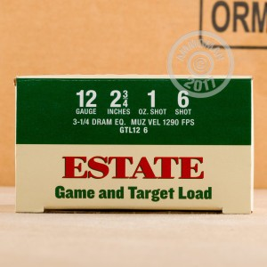 """Picture of 12 GAUGE ESTATE CARTRIDGE GAME AND TARGET LOAD 2-3/4"""" 1 OZ. #6 SHOT (250 ROUNDS)"""