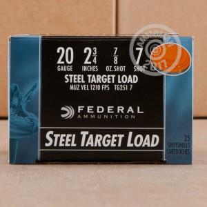 "Picture of 20 GAUGE FEDERAL STEEL SHOT 2-3/4"" #7 SHOT (25 ROUNDS)"
