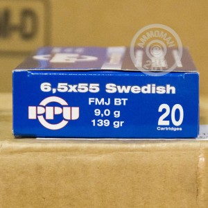 Picture of 6.5X55 SWEDISH PRVI PARTIZAN 139 GRAIN FMJ (20  ROUNDS)
