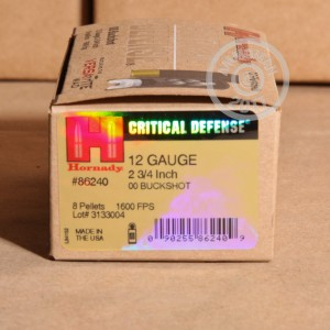 "Picture of 12 GAUGE HORNADY CRITICAL DEFENSE 2-3/4"" #00 BUCK (250 ROUNDS)"