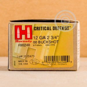 """Picture of 12 GAUGE HORNADY CRITICAL DEFENSE 2-3/4"""" #00 BUCK (250 ROUNDS)"""