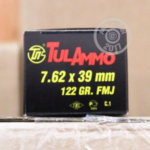 Picture of 7.62x39MM TULAMMO 122 GRAIN FULL METAL JACKET (100 ROUNDS)