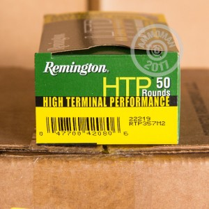 Picture of 357 MAGNUM REMINGTON HTP 158 GRAIN SEMI JACKETED HOLLOW POINT (50 ROUNDS)