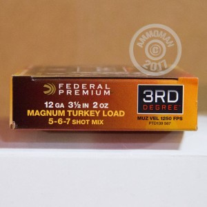 "Picture of 12 GAUGE FEDERAL 3RD DEGREE 3 1/2"" 2 OZ. #5/6/7 SHOT (5 ROUNDS)"