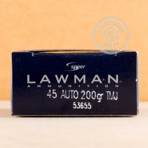 Picture of 45 ACP SPEER LAWMAN 200 GRAIN TMJ (50 ROUNDS)