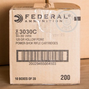 Picture of 30-30 FEDERAL POWER-SHOK 125 GRAIN HP (200 ROUNDS)