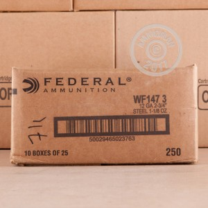 "Picture of 12 GAUGE FEDERAL SPEED-SHOK 2-3/4"" 1-1/8 OZ. #3 STEEL SHOT (25 ROUNDS)"