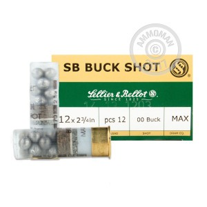 "Picture of 12 GAUGE SELLIER & BELLOT 2-3/4"" 00 BUCK (250 SHELLS)"