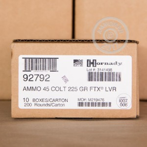 Picture of 45 COLT HORNADY LEVEREVOLUTION 225 GRAIN FTX AMMO (200 ROUNDS)