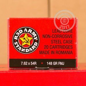 Picture of 7.62X54R RED ARMY STANDARD 148 GRAIN FMJ (20 ROUNDS)