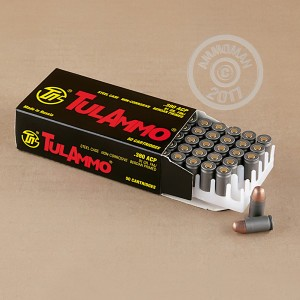 An image of .380 Auto ammo made by Tula Cartridge Works at AmmoMan.com.