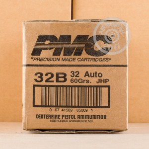 Picture of 32 ACP PMC 60 GRAIN JHP (1000 ROUNDS)