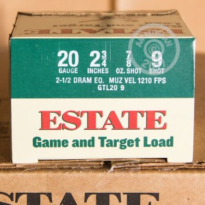 "Picture of 20 GAUGE ESTATE GAME AND TARGET  2-3/4"" #9 SHOT (25 SHELLS)"