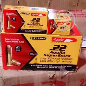 Picture of 22 LR AGUILA SUPER EXTRA 40 GRAIN COPPER PLATED ROUND NOSE (500 ROUNDS)