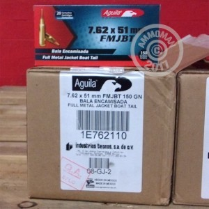 Picture of 7.62 NATO AGUILA 150 GRAIN FMJ (500 ROUNDS)