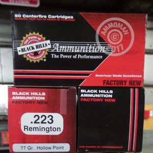 Picture of 223 REMINGTON BLACK HILLS 77 GRAIN HP (1000 ROUNDS)