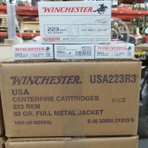 Picture of 223 REMINGTON WINCHESTER 62 GRAIN FMJ (20 ROUNDS)