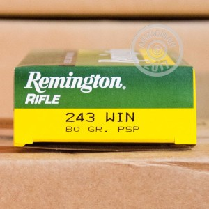 Picture of 243 WIN REMINGTON RIFLE 80 GRAIN PSP (20 ROUNDS)