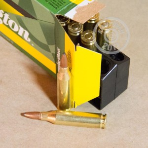 An image of 243 Winchester ammo made by Remington at AmmoMan.com.