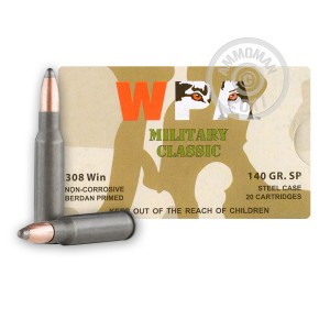Picture of 308 Winchester - 140 Grain WPA SP - Wolf - 500 Rounds