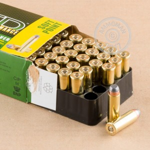 A photo of a box of Remington ammo in 44 Remington Magnum.