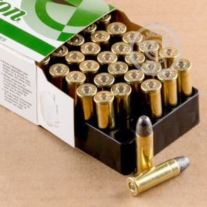 A photograph detailing the 38 Special ammo with Lead Round Nose (LRN) bullets made by Remington.