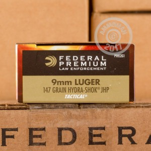 Picture of 9MM LUGER FEDERAL LAW ENFORCEMENT 147 GRAIN HYDRA-SHOK JHP (50 ROUNDS)