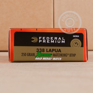 Picture of 338 LAPUA FEDERAL GOLD MATCH 250 GRAIN HPBT (20 ROUNDS)