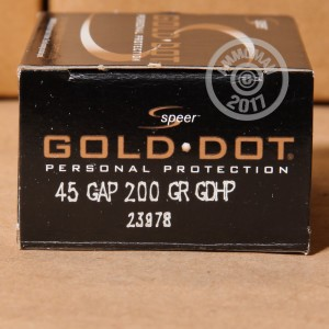 Picture of .45 GAP SPEER GOLD DOT 200 GRAIN JHP (20 ROUNDS)