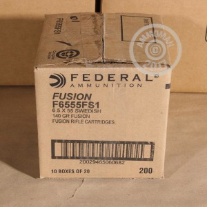 Picture of 6.5X55 SWEDISH FEDERAL FUSION 140 GRAIN SP (20 ROUNDS)
