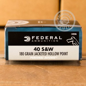 Picture of 40 S&W FEDERAL PERSONAL DEFENSE 180 GRAIN JHP (20 ROUNDS)