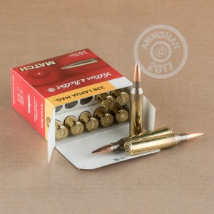 Image of 338 Lapua Magnum ammo by Sellier & Bellot that's ideal for big game hunting, precision shooting, very large animal hunting.