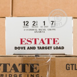 "Picture of 12 GAUGE ESTATE DOVE AND TARGET 2-3/4"" #7.5 SHOT (25 SHELLS)"