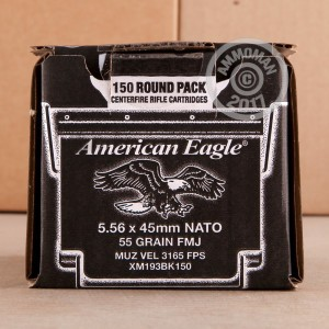 Picture of 5.56x45MM FEDERAL AMERICAN EAGLE 55 GRAIN FMJ (150 ROUNDS)