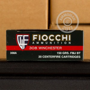 Photo of 308 / 7.62x51 FMJ ammo by Fiocchi for sale.