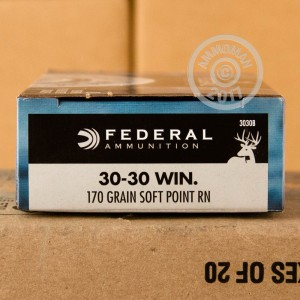 Picture of 30-30 FEDERAL POWER-SHOK 170 GRAIN SP (200 ROUNDS)
