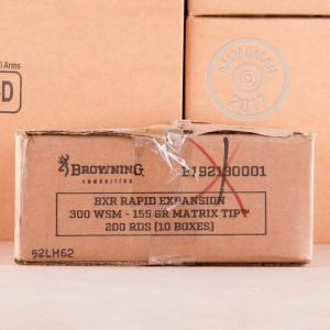An image of 300 Win Short Mag ammo made by Browning at AmmoMan.com.