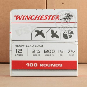 "Picture of 12 GAUGE WINCHESTER USA HEAVY GAME & TARGET 2 3/4"" 1 1/8 OZ. #7.5 (100 ROUNDS)"