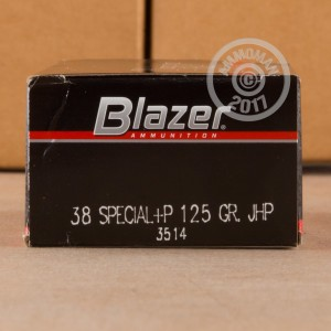 Picture of .38 SPECIAL +P CCI BLAZER 125 GRAIN JHP (50 ROUNDS)