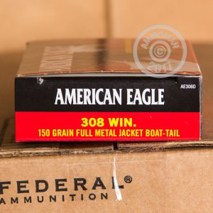 Picture of 308 WIN FEDERAL AMERICAN EAGLE 150 GRAIN FMJ (20 ROUNDS)