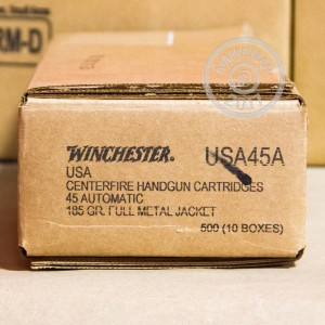 Picture of 45 ACP WINCHESTER 185 GRAIN FMJ (50 ROUNDS)