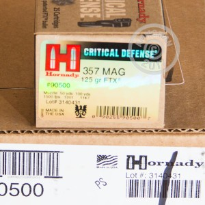 Picture of 357 MAGNUM HORNADY CRITICAL DEFENSE 125 GRAIN JHP (25 ROUNDS)