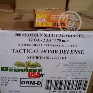 "Picture of 12 GAUGE 2-3/4"" 1 OZ BRENNEKE TACTICAL HOME DEFENSE SLUG SHOT (5 ROUNDS)"