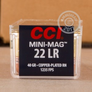 Picture of 22 LR - 40 gr CPRN - CCI Mini-Mag - 5000 Rounds